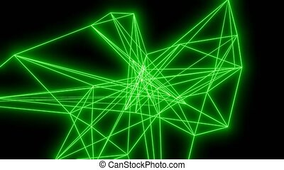 Green lines motion background