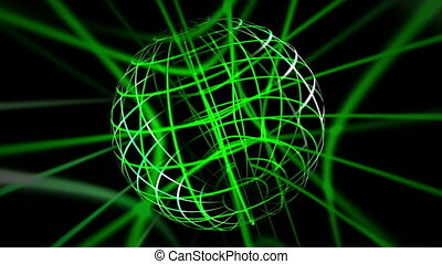 Green Lines Sphere