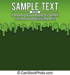 Green Liquid Banners. Vector Illustration