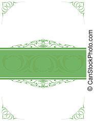 Green little frames over white