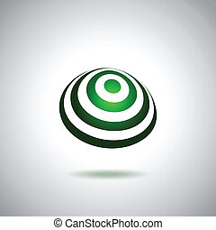 Green little world logo