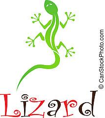 Lizard - Green Lizard with name