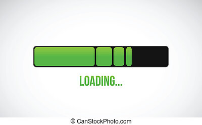 green loading bar illustration design