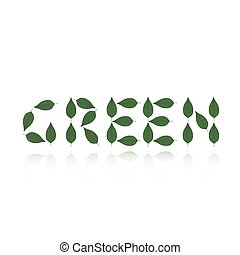 Green logo concept isolated over wh