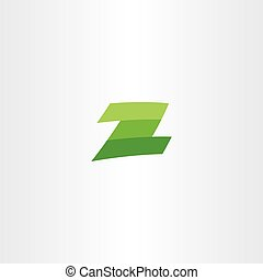 green logotype z letter vector sign icon