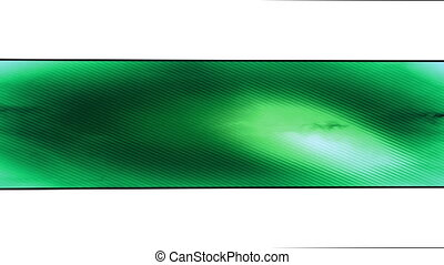 Green looping abstract banner
