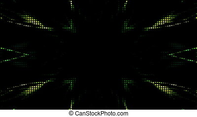 Green Looping LED Style Abstract