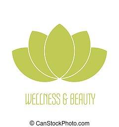 Green lotus icon