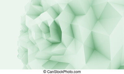 Green low poly edgy sphere background for modern reports and...