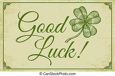 Green lucky clover poster