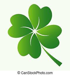 Four leaf clover icon - Green Lucky Four leaf clover icon ...
