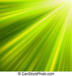 Green luminous rays. EPS 8