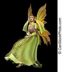 Green Magic CA - a magical fairy in a green dress