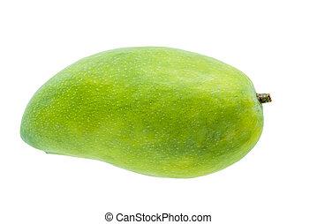 green mango fruit isolated on white background