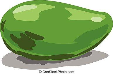 Green mango vector icon