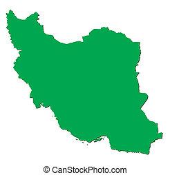 Green map of Iran