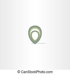 green map pointer abstract marker symbol