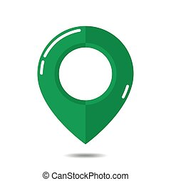 Green map pointer - vector illustration.