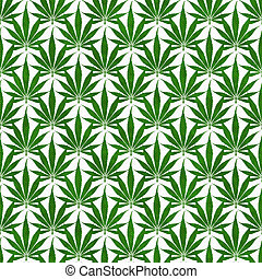 Green Marijuana Leaf Pattern Repeat Background that is ...