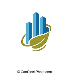 green marketing logo concept