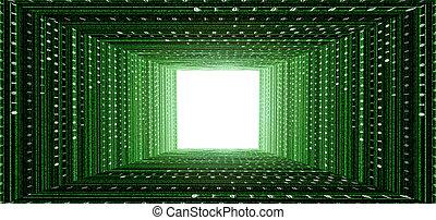 green matrix tunne