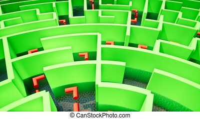 Green Maze on the background of water