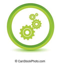 Green mechanism icon