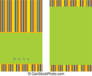 Green menu design