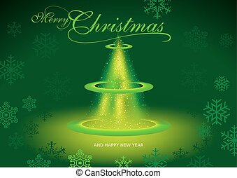 Green Merry Christmas Greeting
