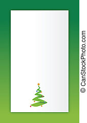 green Merry christmas tree
