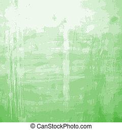 Green Messy Wall