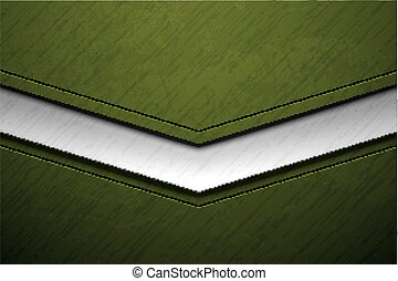 Green metal army background with damaged military grunge...
