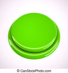 Green metal button
