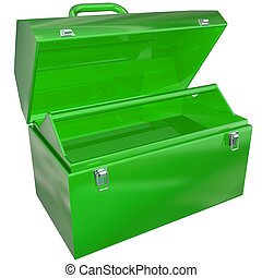 Green Metal Open Toolbox Empty Store Tools Project Work
