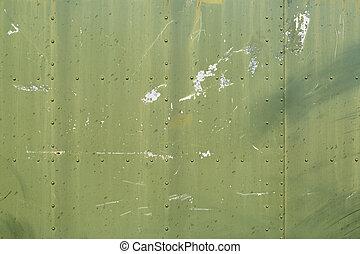 Green metal plates