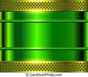 Green metallic background