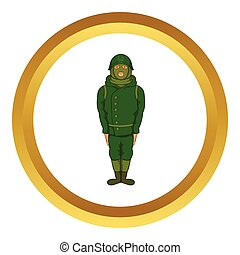 Green military camouflage uniform vector icon