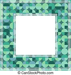 green mint abstract border
