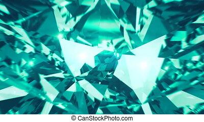 Green mint diamond dispersion footage. Fancy color diamond...