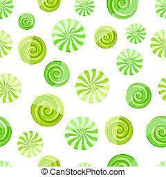 green mint striped candy seamless pattern