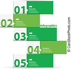 Green Modern flat design infographics