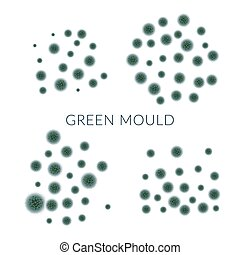 Green mold isolated on white background.Vector illustration....