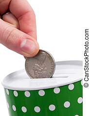 green money box with australian money