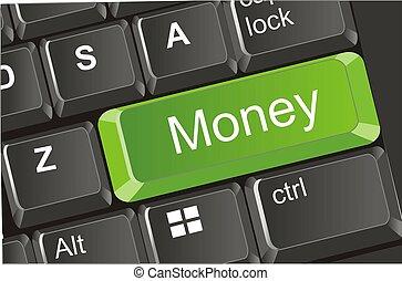 green money button