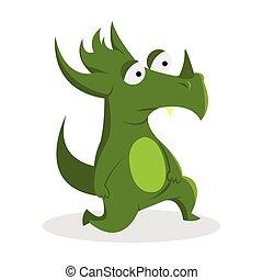green monster illustration design