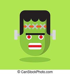 green monster on green background