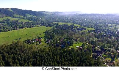 green montains valley aerial view