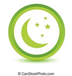 Green moon icon