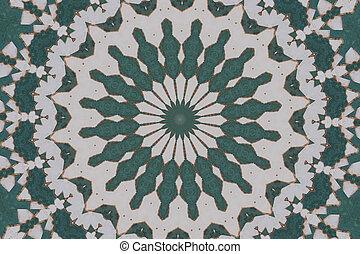 Green mosaic abstract 2