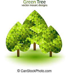 Green mosaic tree ecology design